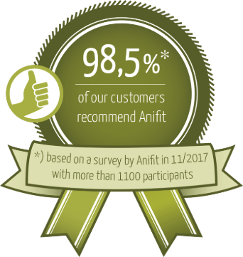98.5% of our clients would recommend Anifit